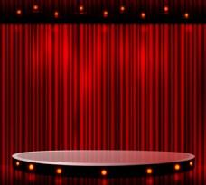 精美红色舞台