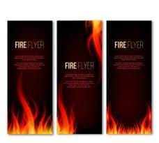 火焰装饰banner矢量图
