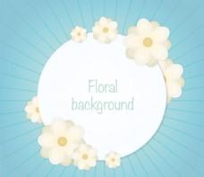 花朵圆形标签