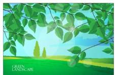 矢量绿色树叶