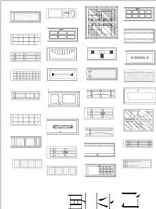 CAD常用立面门