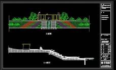 游船码头广场CAD景观图纸