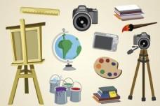 卡通摄影与绘画元素