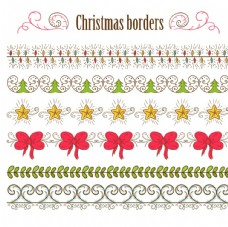 圣诞节彩色花边