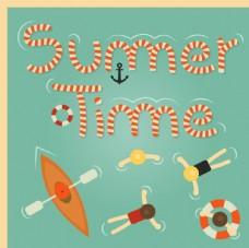 夏季海洋度假 插画