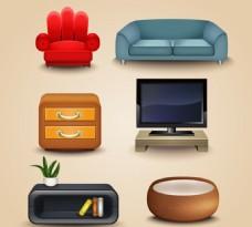 现代家具图标