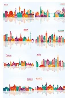 矢量多彩城市