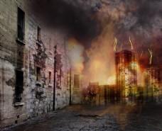 战争弥漫的城市