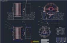 摩擦式提升机CAD图纸