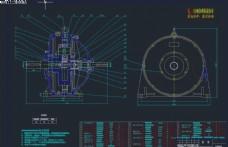 行星减速器CAD机械图纸