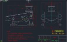 煤粉振动筛图纸CAD机械图纸