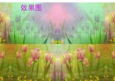 郁金香花朵视频背景