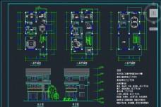 三层农村私人别墅施工设计图
