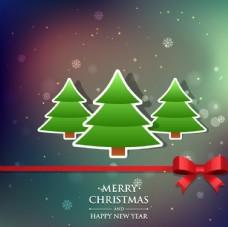 圣诞树贴纸贺卡