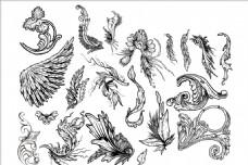 欧式花边与翅膀