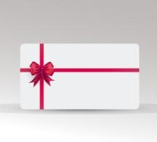 红色蝴蝶结装饰卡片