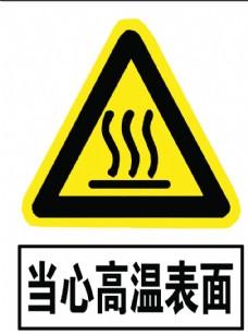 当心高温表面