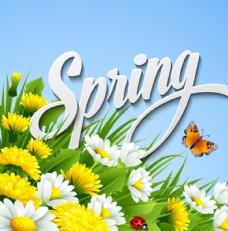 春季花草海报