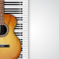 吉他与钢琴键