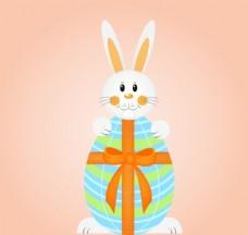 卡通彩蛋兔子