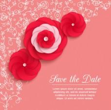 红色螺旋花卡片