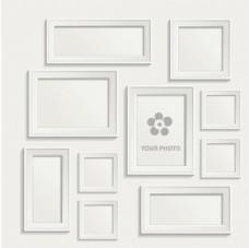 白色相框墙