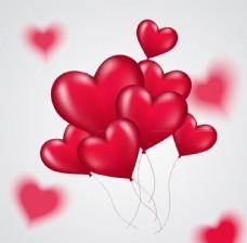 红色爱心气球