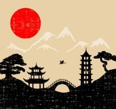 日式风格插画