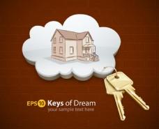 房屋和钥匙
