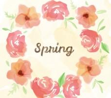 春季水彩花卉