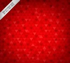 红色三角形拼接无缝背景