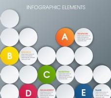 创意圆形商务信息图