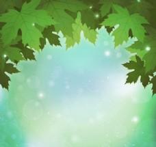 梦幻绿叶背景