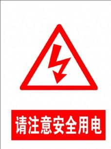 注意用电安全标志