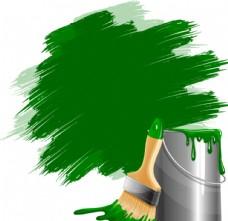 油漆桶与刷子
