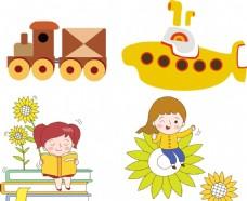 阅读 火车 儿童