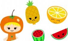 橙子 菠萝 表情