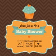 蛋糕装饰迎婴派对海报