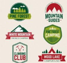 户外登山运动标签