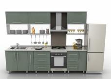 现代橱柜3D模型效果图