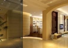 玄关走廊客厅模型