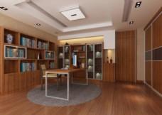 现代书房模型