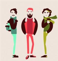 卡通时尚男性
