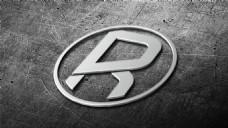钢板上的金属字体效果图PSD模