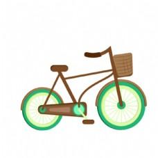 自行单车AI失量卡通