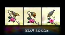 花鸟无框画