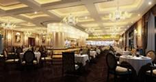 五星级酒店自助餐厅设计效果图
