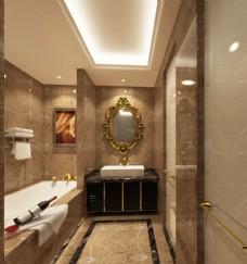 五星级酒店浴室设计效果图