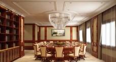 五星级酒店会议室设计效果图