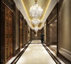 五星级酒店过道设计效果图